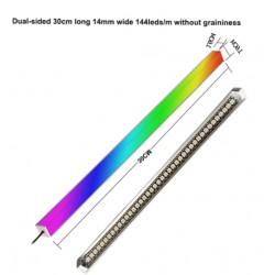 5 ARGB Çift Taraflı Led Bar 30cm